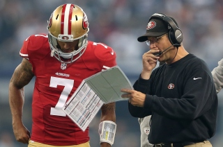 Harbaugh Clarifies Remarks Regarding Kaepernick's National Anthem Stance