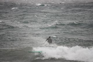 Lake Tahoe Surfers Ride Storm Waves