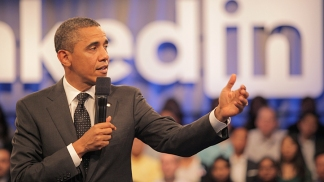 Obama Hits Mountain View for LinkedIn Town Hall