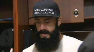 Raw Video: Brian Wilson on Season Ending Injury