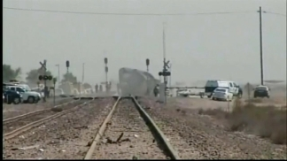 Raw Video: Aftermath of Big Rig-Amtrak Collision