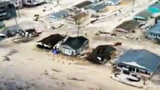 Dramatic Aerial Tour of Sandy NJ Aftermath