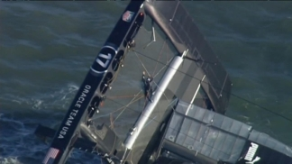 Raw Video: America's Cup Oracle Boat Capsizes in Bay