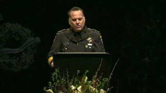 Raw Video: Police Chief Kevin Vogel's Eulogy