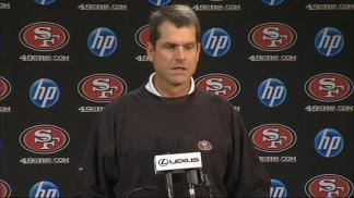 Raw Video: 49er Coach Jim Harbaugh
