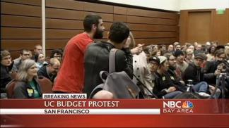 Protesters Disrupt UC Regents