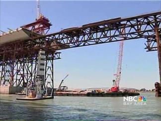 Bay Bridge Tower Moves into Place