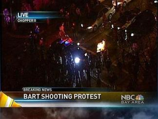 Crowd Turns Violent in Oakland After BART Shooting