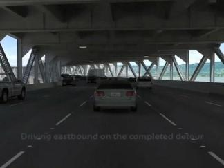 Eastbound Bay Bridge Simulation Post Labor Day