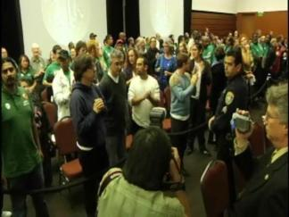 Raucous Protesters Shut Down UC Regents Meeting