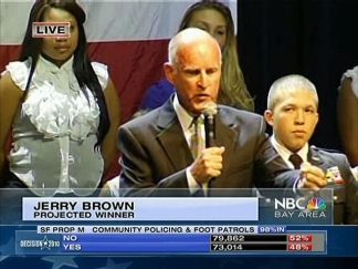 Raw Video: Jerry Brown Wins