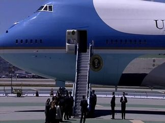 Raw Video: President Barack Obama Lands in SF