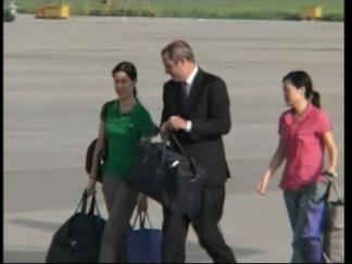 Freed Journalists Leave North Korea