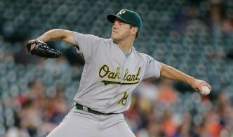 Hill Improves to 7-0 on Road as A's Beat Astros