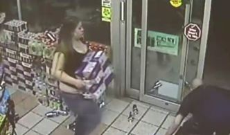 Thieves Throw Red Bull at Store Clerk During Robbery