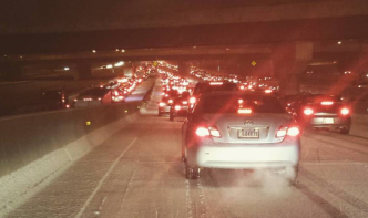 As Super Bowl Ends, Onslaught of Heavy Traffic Begins