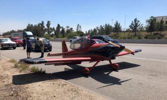 Small Plane Makes Emergency Landing on 215 Freeway