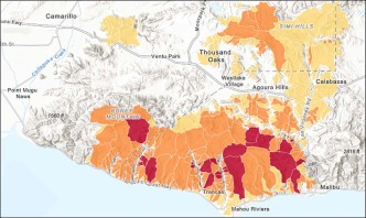 Maps: Wildfire Burn Areas Threatened by Storms