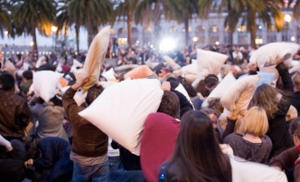 Nothing Says Happy Valentine's Day Like a Pillow Fight