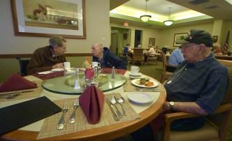 World War II Veterans Share Memories at Daily Lunch
