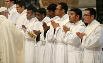 Pope Ordains 16 Priests, Tells Them Always 'Be Merciful'