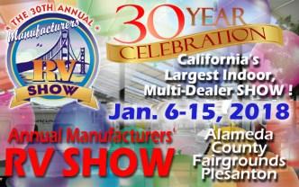 The 30th Annual Manufacturers' RV Show Returns Jan. 6!