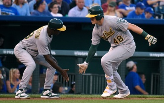 A's Offense Explodes to Complete Sweep of Royals