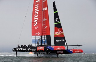 """Team Oracle USA Calls """"Time Out"""" in America's Cup"""