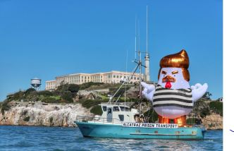 Inflatable Trump Chicken to Sail Around Ashore in SF