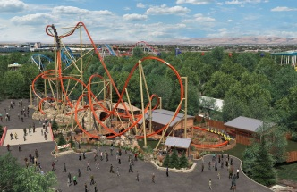 California's Great America Debuts Single Rail Steel Coaster