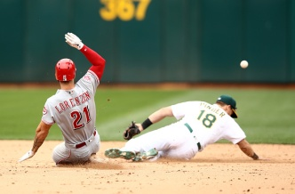 A's Blanked by Reds in Series Finale