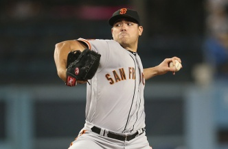 Moore Comes One Out From No-Hitter as Giants Beat Dodgers