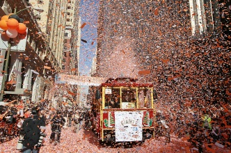 Giants Ticker Tape Parade on Halloween
