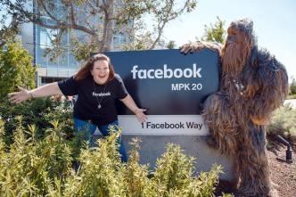 'Chewbacca Mom' Visits Facebook Headquarters