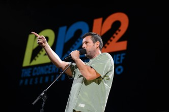 Adam Sandler Takes it to Sandy at 12-12-12 Concert