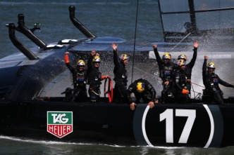 Oracle Team USA Fans Celebrate Comeback Victory at America's Cup