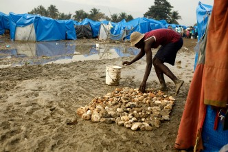 Heavy Rains Swamp Haiti's Homeless Camps