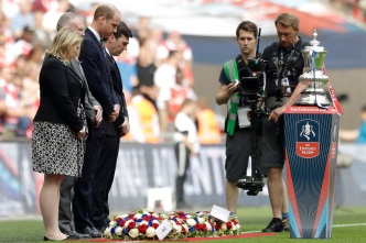 Prince William Leads FA Cup Final Tribute to Manchester Dead