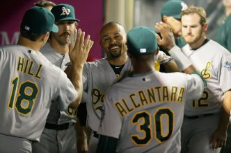 A's Win Third Straight Game Against Angels