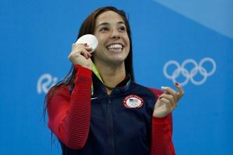 Gold Medalist DiRado Returns Home, Speaks to Students