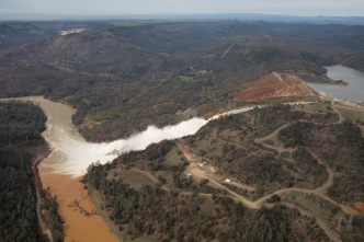 Massive Debris Pile Emerges From Troubled Oroville Dam