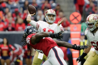 Garoppolo's First 300-Yard Effort Leads 49ers to Win