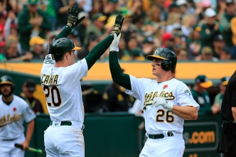 A's Win Streak Reaches 10 With Victory Over Angels