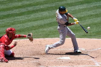 A's Blow Lead, Can't Complete Sweep of Angels