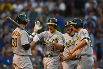 Piscotty, A's Bounce Back to Clobber Cubs