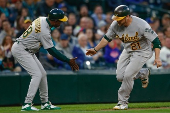 A's Break Out of Slump, Beat Seattle