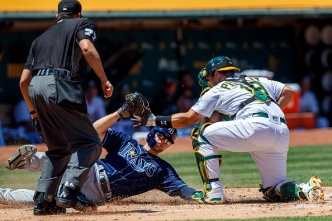 A's Fall to Rays, Settle For Series Split