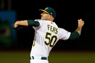 A's Pitcher Mike Fiers Tosses No-Hitter to Beat Reds