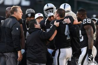Raiders Lose Carr in Victory Over Colts