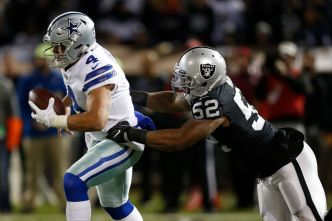Even in a Down Year, Raiders' Mack is Among NFL's Best